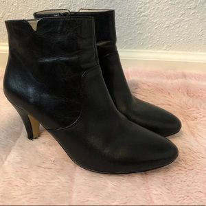 INC Hanah womens black  booties ankle boots 8
